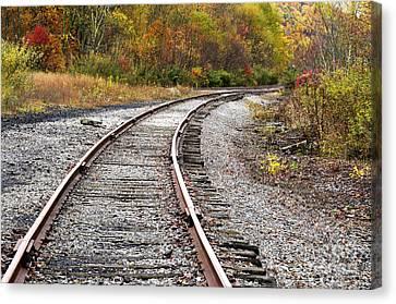 Railroad Fall Color Canvas Print by Thomas R Fletcher