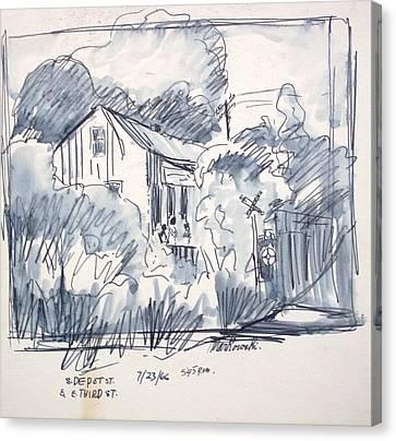 Old Shed Canvas Print - Railroad House by Bill Joseph  Markowski