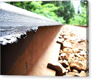 Railroad Track Canvas Print by Duwayne Washington