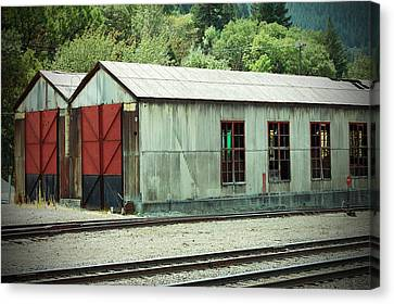 Railroad Woodshed 2 Canvas Print by Holly Blunkall