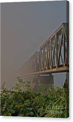 Railway Bridge Canvas Print by Rod Wiens
