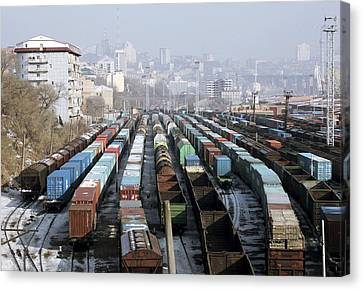 Vladivostok Canvas Print - Railway Depot, Russia by Ria Novosti