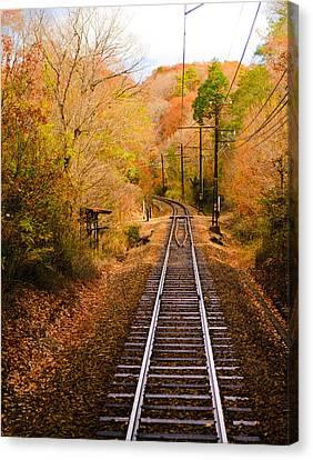 Railway Track Canvas Print by (c) Eunkyung Katrien Park
