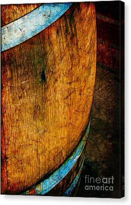 Rain Barrel Canvas Print - Rain Barrel by Judi Bagwell
