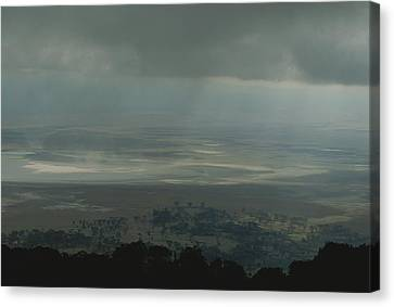 Rain Clouds Over The Ngorongoro Crater Canvas Print