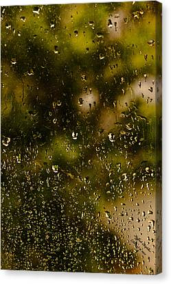 Canvas Print featuring the photograph Rain Drops On My Window by Itzhak Richter