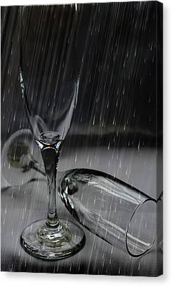 Rain Glasses Canvas Print