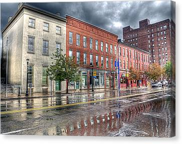 Rain Reflection Canvas Print by Brian Fisher