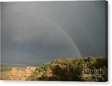Rainbow At Grand Canyon Canvas Print