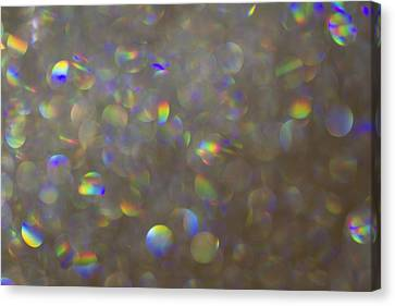Glamour Optics Canvas Print - Rainbow Bokeh. by Clare Bambers