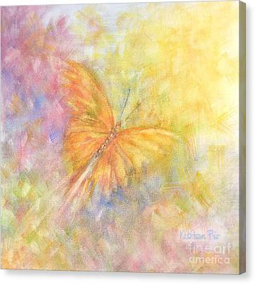 Rainbow Butterfly 3 Canvas Print by Kathleen Pio
