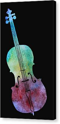 Rainbow Cello Canvas Print by Jenny Armitage