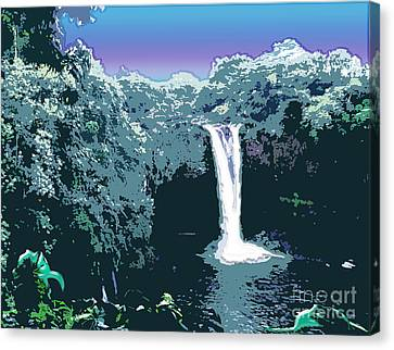 Rainbow Falls Canvas Print by Karen Nicholson