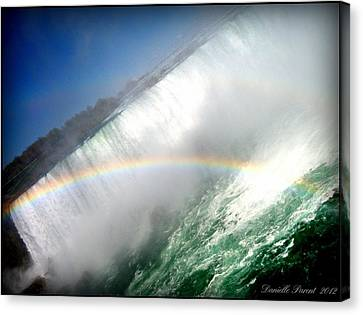 Canvas Print featuring the photograph Rainbow For The Maid Of The Mist by Danielle  Parent