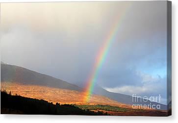 Rainbow In Scotland Canvas Print by Holger Ostwald