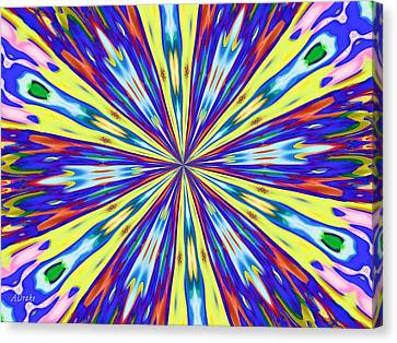 Canvas Print featuring the digital art Rainbow In Space by Alec Drake