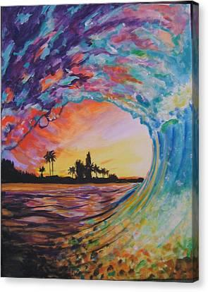 Rainbow Jawz Wave Canvas Print by Anne Provost