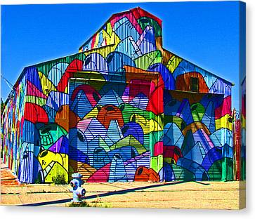 Rainbow Jug Building Canvas Print by Samuel Sheats