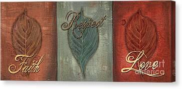 Rainbow Leaves 1 Canvas Print