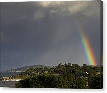 Rainbow Over Carmel Canvas Print by Mike Herdering