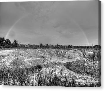 Canvas Print featuring the photograph Rainbow Pit by John Burns