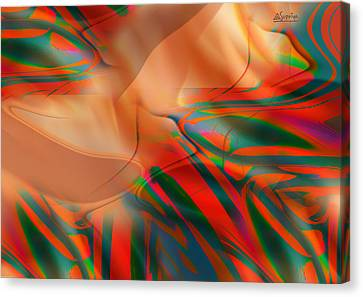 Rainbow Silk Canvas Print by Supriya Karkhanis