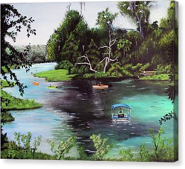 Rainbow Springs In Florida Canvas Print by Luis F Rodriguez