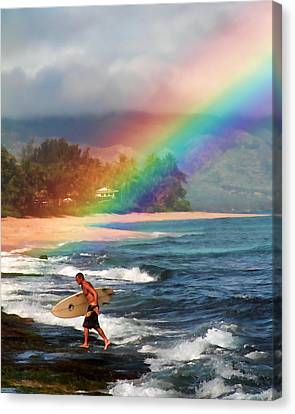 Rainbow Surfer Canvas Print