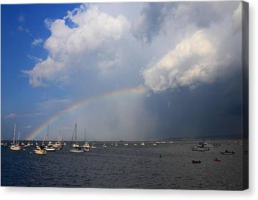 Rainbow Trailing Thunderstorm Canvas Print