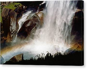 Rainbow Under Vernal Falls 2 Canvas Print by Amelia Racca