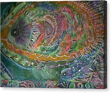 Rainbow Under Water Canvas Print by Anne-Elizabeth Whiteway