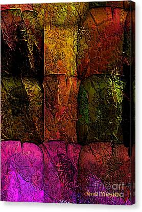 Canvas Print featuring the painting Rainbows And Stone 2 by Steven Lebron Langston