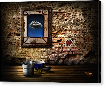 Old House Canvas Print - Raining In My Heart by Alessandro Della Pietra