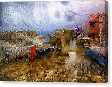 Rainy Day Abstract 3 Canvas Print