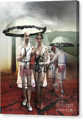 Rainy Day Woman Canvas Print by Rosa Cobos