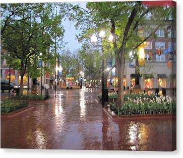 Canvas Print featuring the photograph Rainy Evening In Boulder by Shawn Hughes