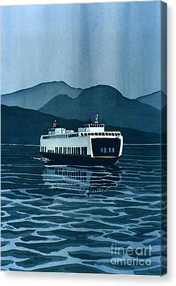 Scott Nelson Canvas Print - Rainy Ferry by Scott Nelson