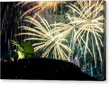 Rainy Fireworks Canvas Print by Yoshiki Nakamura
