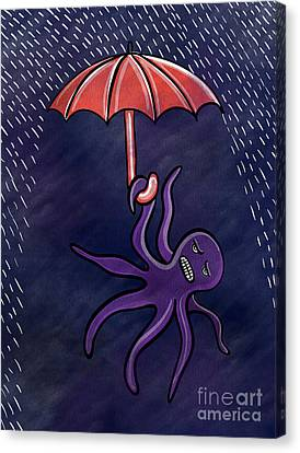 Rainy Night Canvas Print by HD Connelly