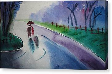 Rainy Season Canvas Print by Vijayendra Bapte
