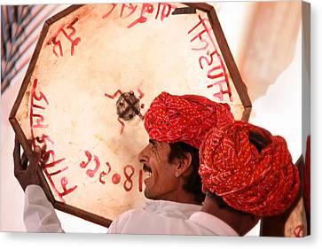 Rajasthani Drummers Canvas Print by Mostafa Moftah