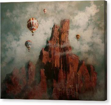 Rally Over Castle Rock Canvas Print by Tom Shropshire