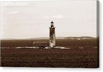 Ram Island Ledge Lighthouse Canvas Print by Skip Willits
