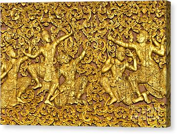 Canvas Print featuring the photograph Ramayana by Luciano Mortula