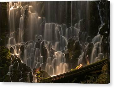 Ramona Falls Or   Canvas Print by Ulrich Burkhalter