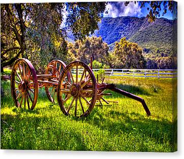 Rancho Oso Wagon Canvas Print by Bob and Nadine Johnston