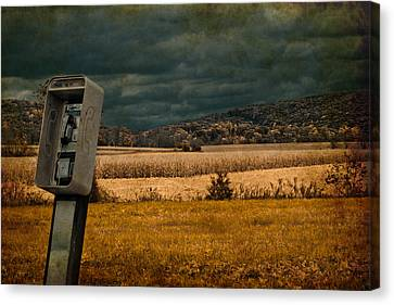 Random Phonebooth Canvas Print by Trish Tritz