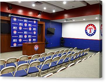 Rangers Press Room Canvas Print by Ricky Barnard