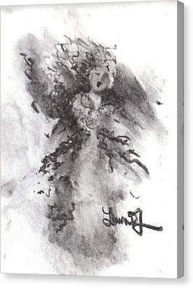 Canvas Print featuring the drawing Rapture Of Peace by Laurie Lundquist
