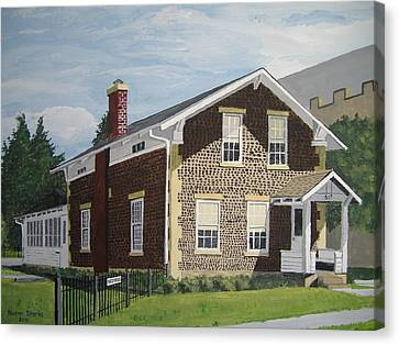 Canvas Print featuring the painting Rasey House by Norm Starks